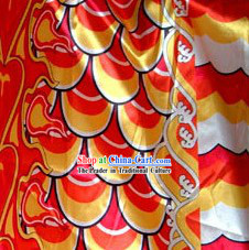 Traditional Yellow Chinese Dragon Scale Fabric