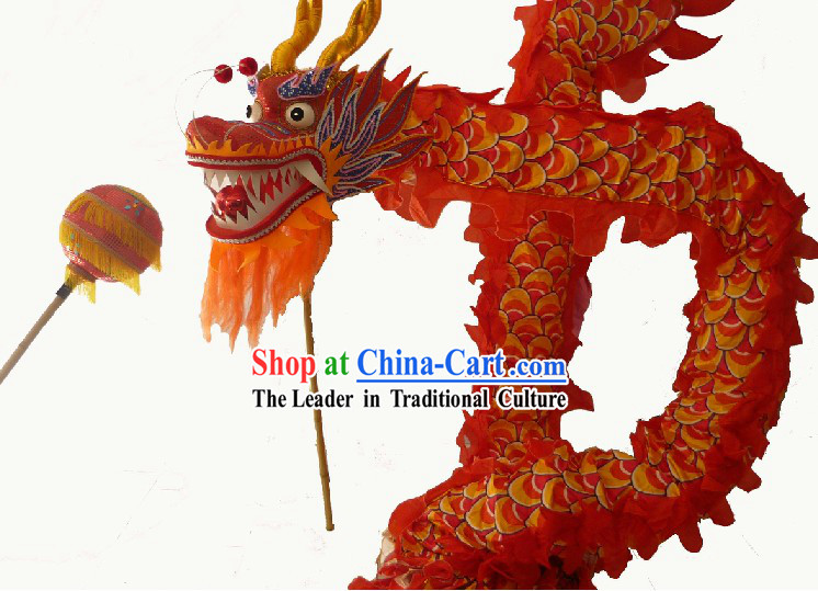 57 Meters Long Chinese Classical Dragon Dancing Costumes for 29-30 Adults