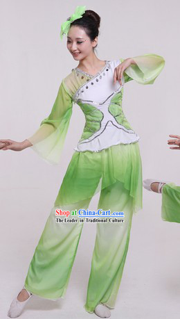 Chinese New Year Celebration Jasmine Flower Dancing Costumes and Headpieces