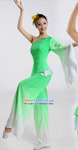 Chinese Spring Festival Celebration Jasmine Flower Dance Costumes and Hair Accessories