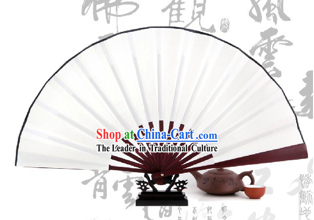 Traditional Chinese Plain White Bamboo Fan Staves