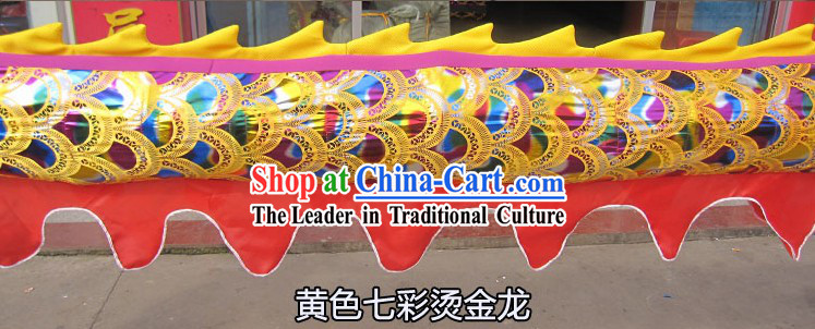 Traditional Chinese Rainbow Dragon Dance Costume for Nine or Ten People