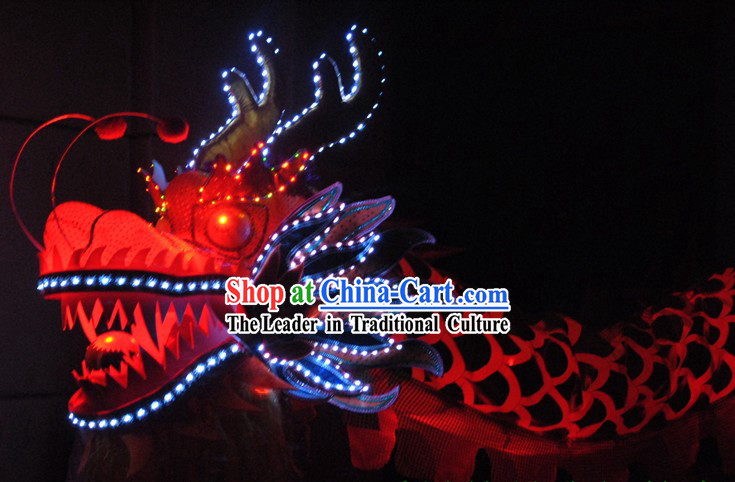 LED Lights Luminous Dragon Dance Prop Costumes for 9-10 Adults