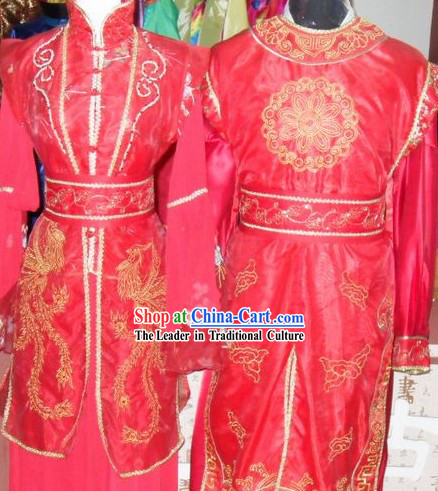 Traditional Chinese Wedding Suits for Men and Women