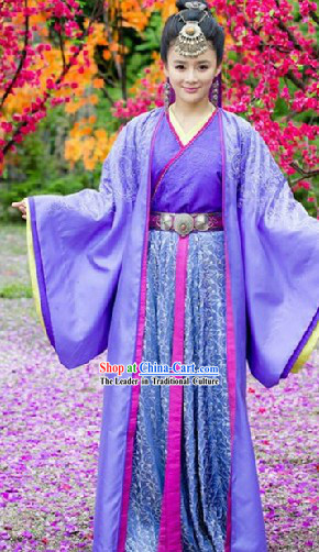Traditional Chinese Xiao Ao Jiang Hu Ren Yingying Costumes and Hair Accessories