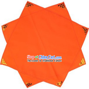 Traditional Chinese Orange Folk Dance Handkerchief