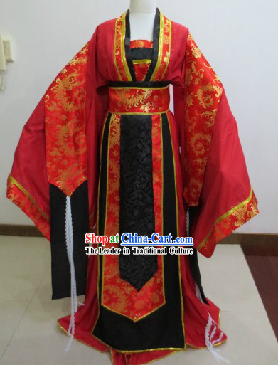 Traditional Chinese Ancient Hua Jian Meng Shi Wedding Outfit