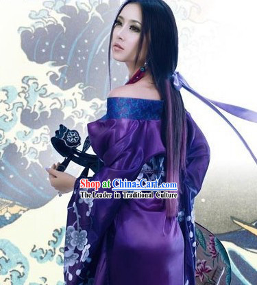Blue Traditional Chinese Lute Costume Complete Set