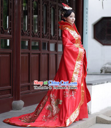 Traditional Ancient Chinese Tang Dynasty Empress Costumes and Headwear