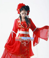 Ancient Chinese Red SD BJD Wedding Clothing for Brides