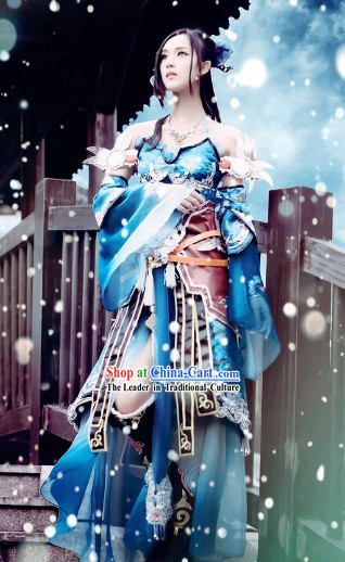 Ancient Chinese Swordswoman Cosplay Outfit