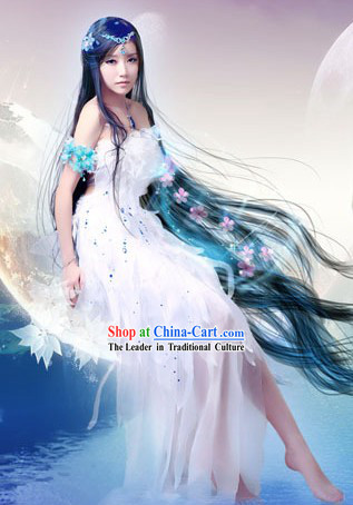 Ancient Chinese Moon Goddness Costume and Headpieces