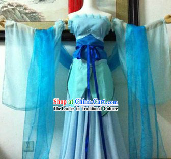 Ancient Chinese Blue Cosplay Costumes for Women