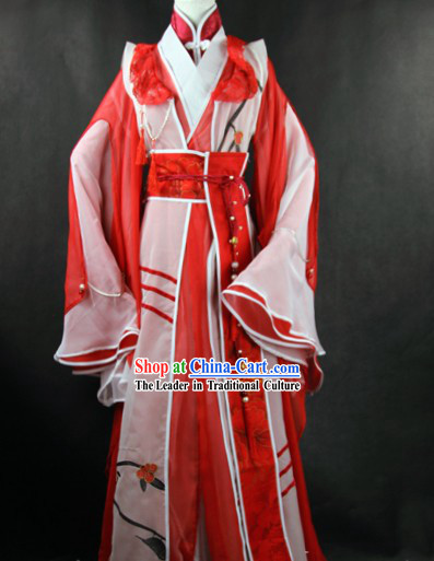 Ancient Chinese Legend Bai Nan Zhu Hierarch Costumes for Men