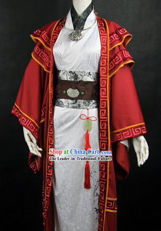 Ancient Chinese Swordsman Cosplay Outfit for Men