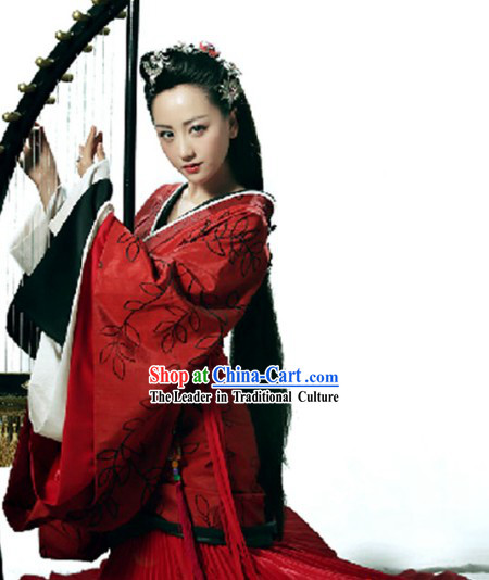 Song of Cloud TV Drama Ancient Chinese Palace Red Outfit for Women