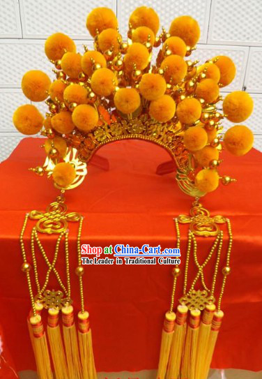 Traditional Chinese Gold Phoenix Coronet for Women
