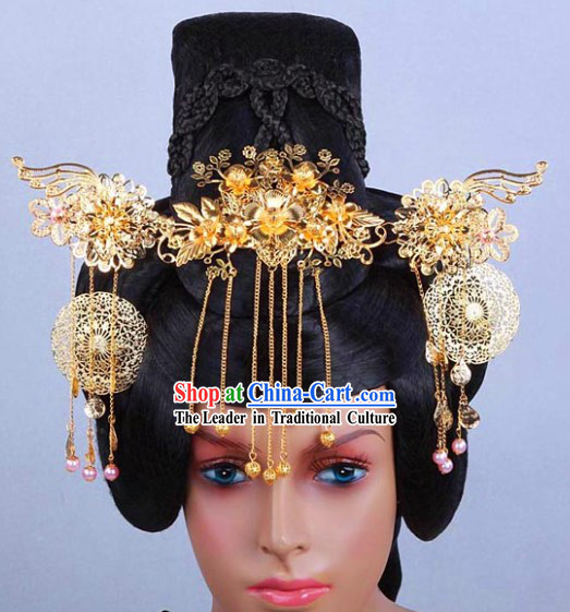 Ancient Chinese Imperial Palace Princess Wig and Hair Accessories