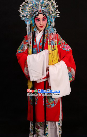 Traditional Chinese Beijing Opera Hua Dan Robe and Skirt Complete Set for Women