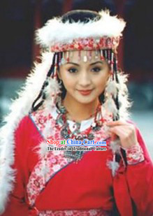 Princess Pearl of Returning The Return of The Pearl Princess Han Xiang Xiang Fei Costumes and Hat Complete Set