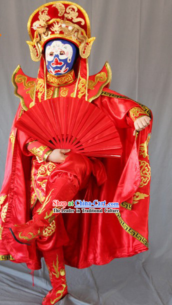 Magical Mask Changing Performance Costumes Complete Set for Men