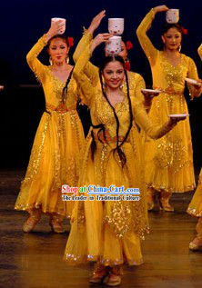 Xinjiang Dingwan Dancing Costumes for Women