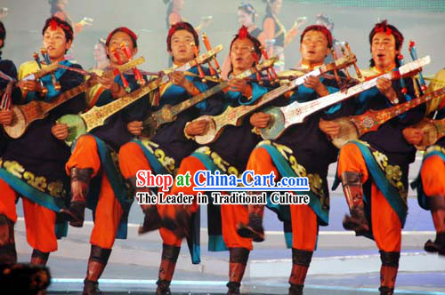 Traditional Chinese Tibetan Ethnic Clothing and Hat for Men