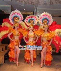 Samba Stage Performance Costumes and Hat for Women