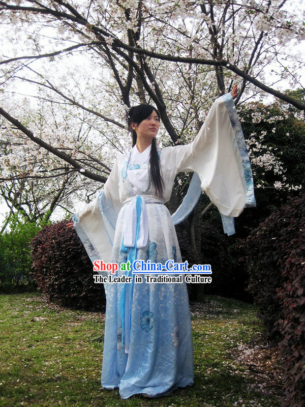 Wide Sleeves Hanfu Clothing Complete Set for Women