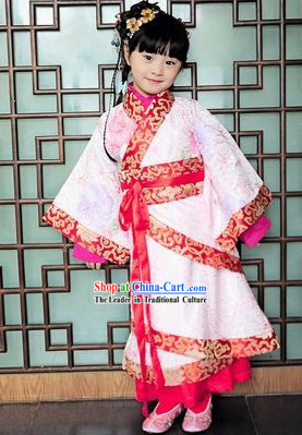 Traditional Chinese Birthday Ceremony Clothing for Kids