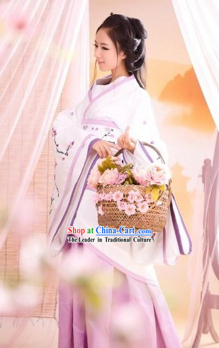 Ancient Chinese Princess Flos Mume Hanfu Clothes