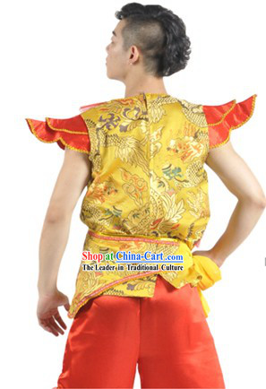 Dragon Dancer and Drum Player Stage Performance Outfit for Men