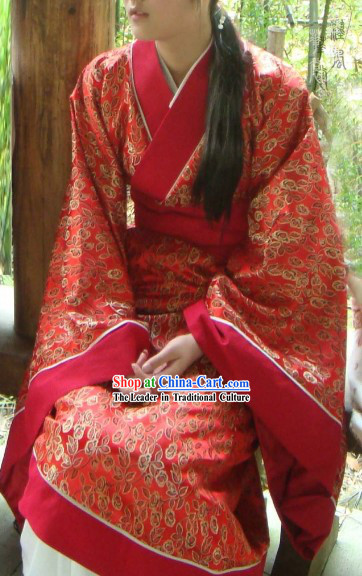 Ancient Chinese Red Hanfu Suit for Women