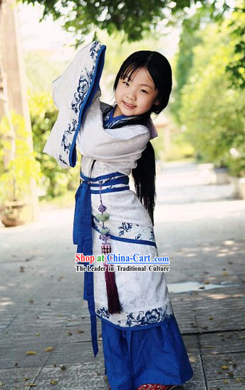 Traditional Chinese Quju Clothing Complete Set for Kids