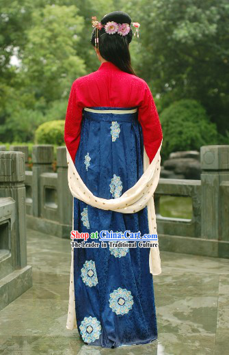 Chinese Ancient Tang Dynasty Ruqun Garment Clothes for Women