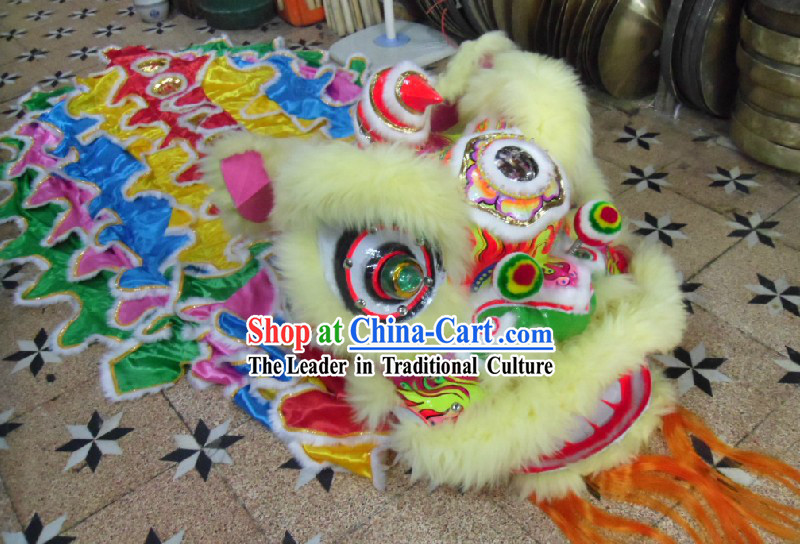 Chinese Festival Celebration Lion Dance Costumes Complete Set for Children