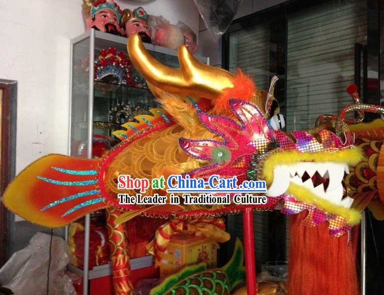 Traditional Chinese Performance and Parade Handmade Dragon Fish Prop Set