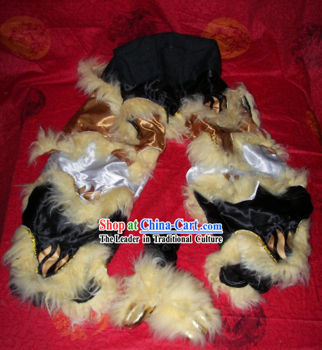 Tiger Claws Stripe Chinese Festival Celebration One Pair of Lion Dance Pants and Shoes Covers