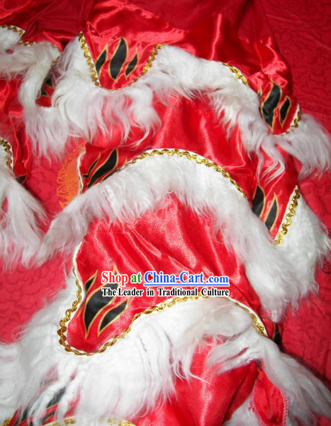 Tiger Claw Stripes Two Pairs of Lion Dance Pants and Shoes Covers