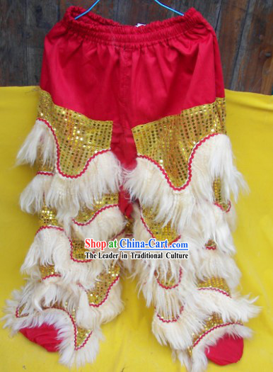 Long Wool Two Pairs of Lion Dance Pants and Claws
