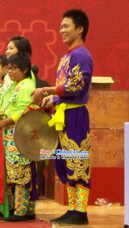 Professional Dragon Dancer, Drum Player, Gong and Cymbal Player Uniforms
