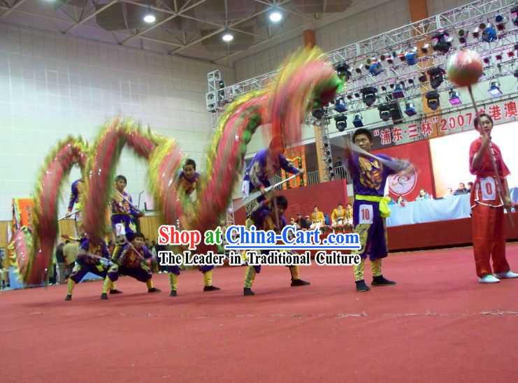 Traditional Chinese Southern Dragon Dance Costumes Complete Set