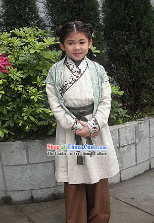 Ancient Traditional Chinese Hanfu Clothing for Kids