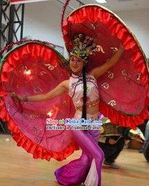Chinese Lunar New Year Events Parade Clam Shell Dance Costume and Prop Complete Set