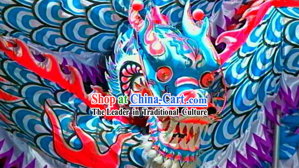 Blue Competition and Parade Chinese Lunar New Year Celebration Luminated Dragon Dance Costumes