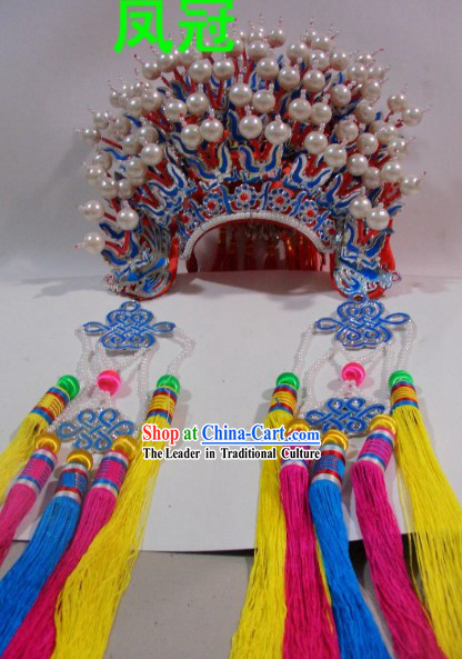 Chinese Traditional Brides Phoenix Crown Headgear