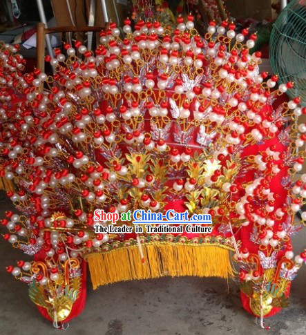 Traditional Chinese Wedding Phoenix Hat for Women