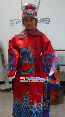 Chinese New Year Cai Shen Ye Fairytale God of Wealth Costumes for Children