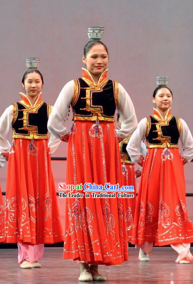 Traditional Chinese Korean Dance Costumes and Headwear for Women