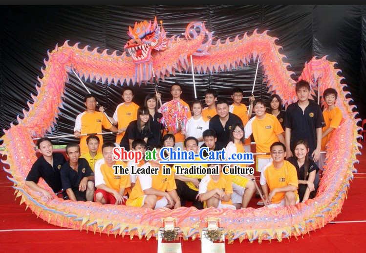 Professional Competition and Performance Ultraviolet University Dragon Dance Costumes Complete Set